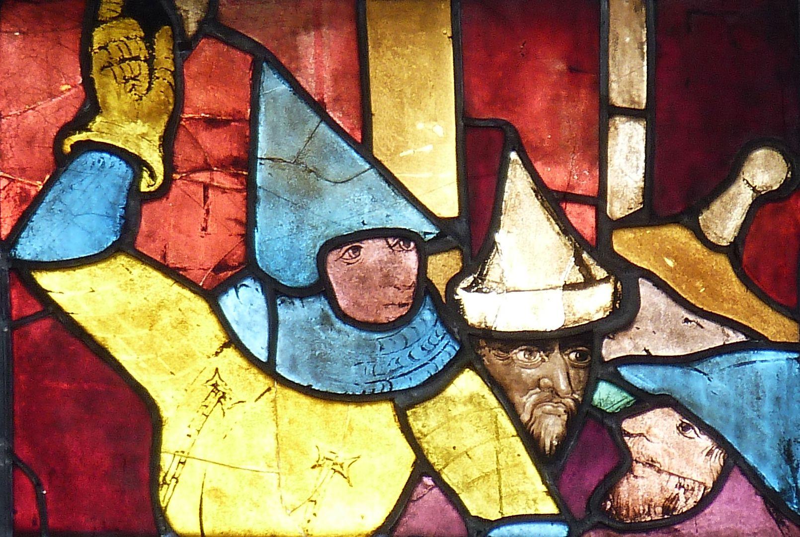 Tucher-Fenster Fünfte Zeile, Detail mit Hauptmann
