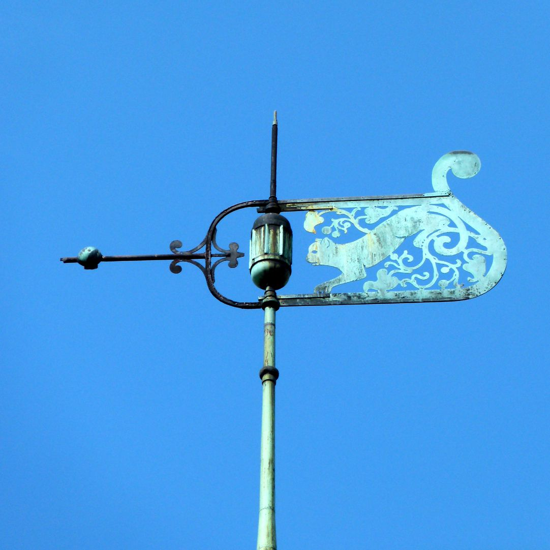 Ludwig-Uhland-Schule Wetterfahne des Uhrentürmchens