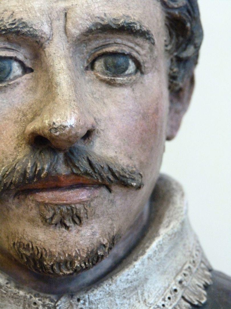 Büste eines Unbekannten Gesicht, Detail