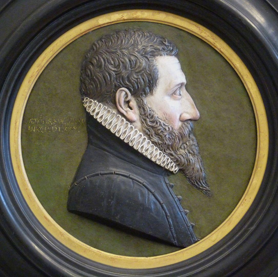 Profilbildnis eines Unbekannten Detail des Tondos