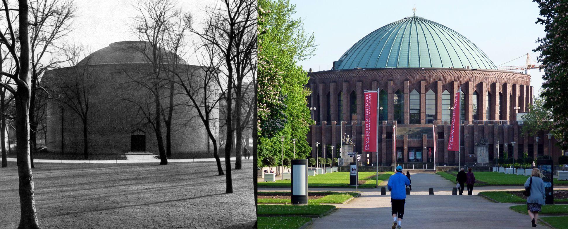 Planetarium VERGLEICHSBEISPIEL: Düsseldorf, Tonhalle, Architekt: Wilhelm Kreis , Blick vom Museum Kunst Palast