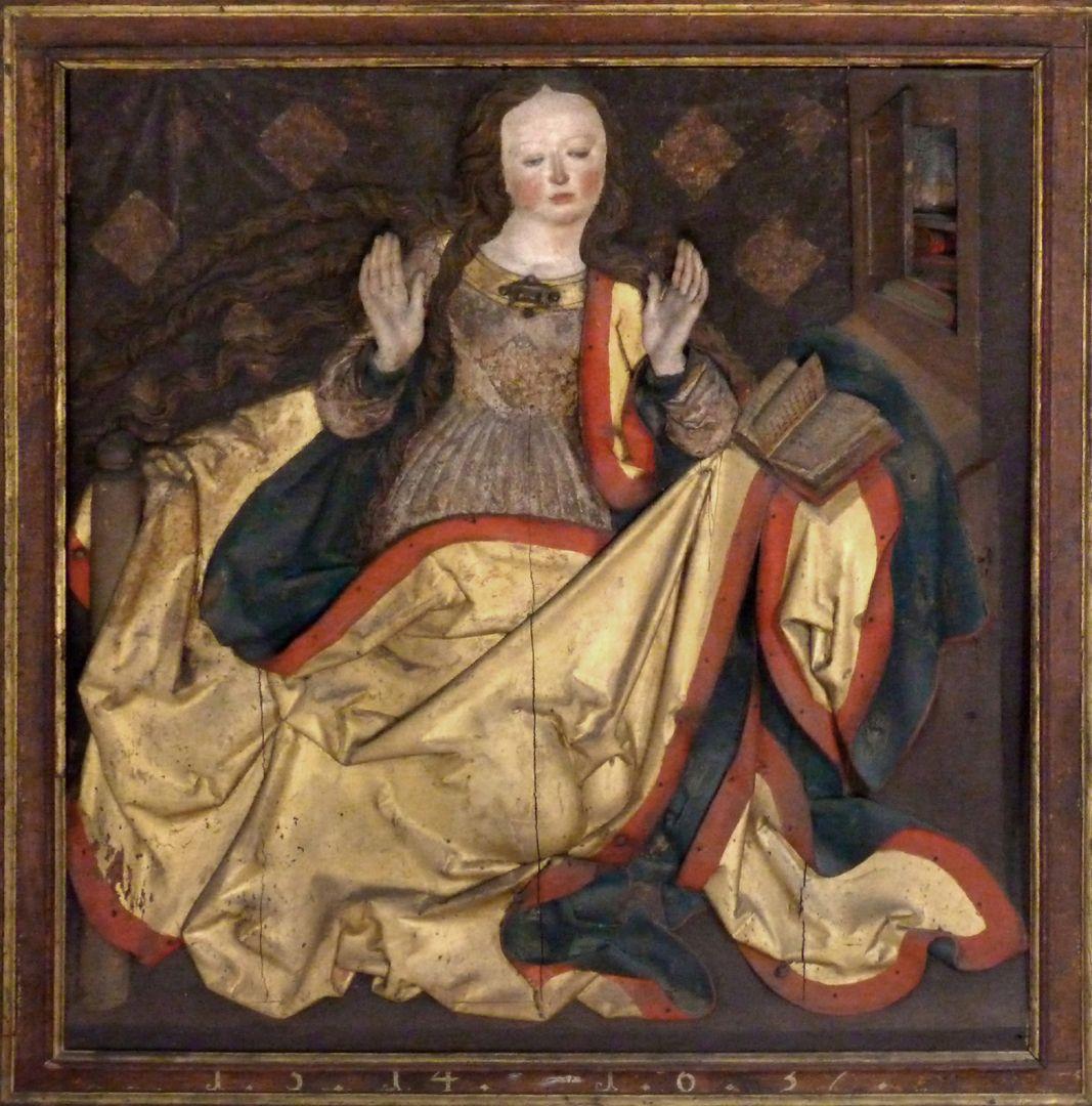 Reliefs einer Verkündigung Mariens Maria