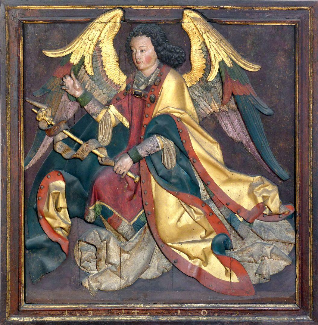 Reliefs einer Verkündigung Mariens Gabriel