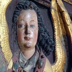 Reliefs einer Verkündigung Mariens