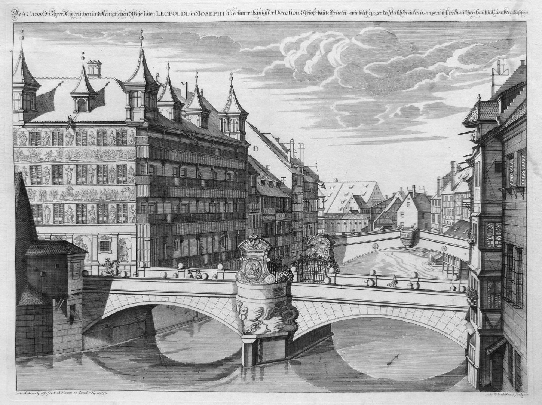 """""""Die A.C.1700.zu Ihrer Kaiserlichen und königlichen Majestäten …"""" Neue Brücke mit Viatishaus"""