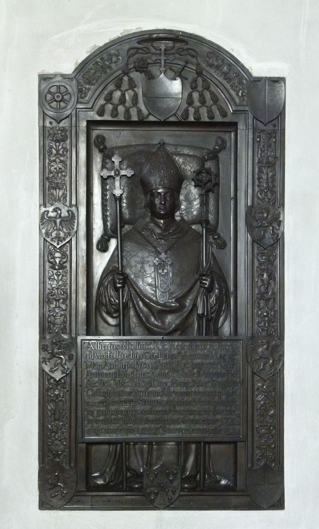 Gedächtnisplatte des Albrecht v. Brandenburg Gesamtansicht