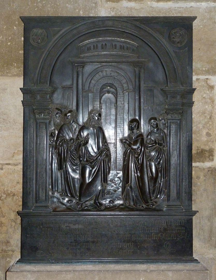 Messingepitaph der Margarete Tucher Gesamtansicht, Blitzaufnahme