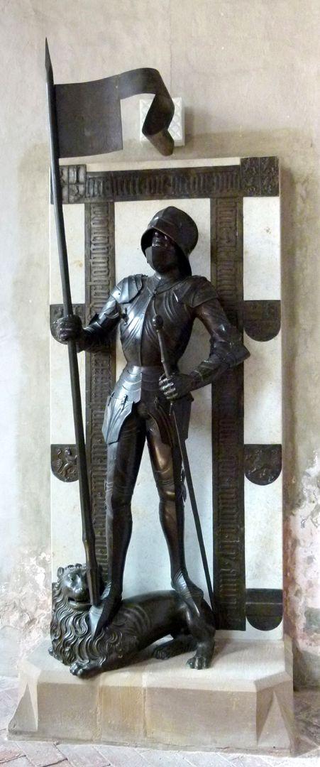 Bronzestatue Ottos IV. v. Henneberg (Römhild) Gesamtansicht