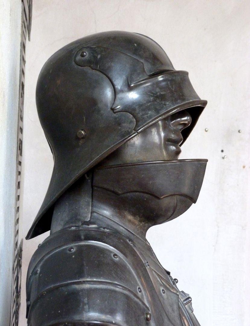 Bronzestatue Ottos IV. v. Henneberg (Römhild) Kopf, r. Seite