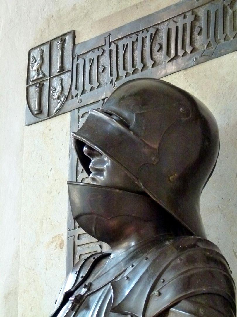 Bronzestatue Ottos IV. v. Henneberg (Römhild) Kopf, l. Seite