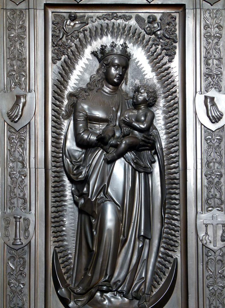 Gedächtnisanlage des Albrecht v. Brandenburg: Maria auf der Mondsichel Maria auf der Mondsichel, Detail