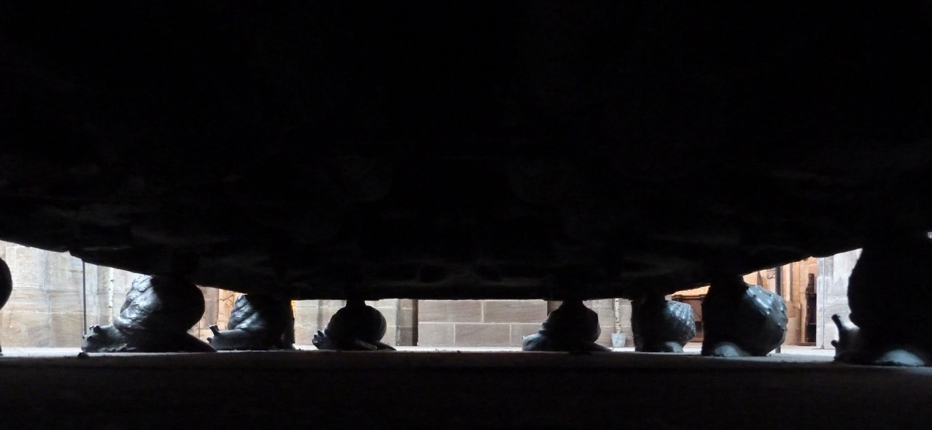 Sebaldusgrab Unterseite der Tragplatte