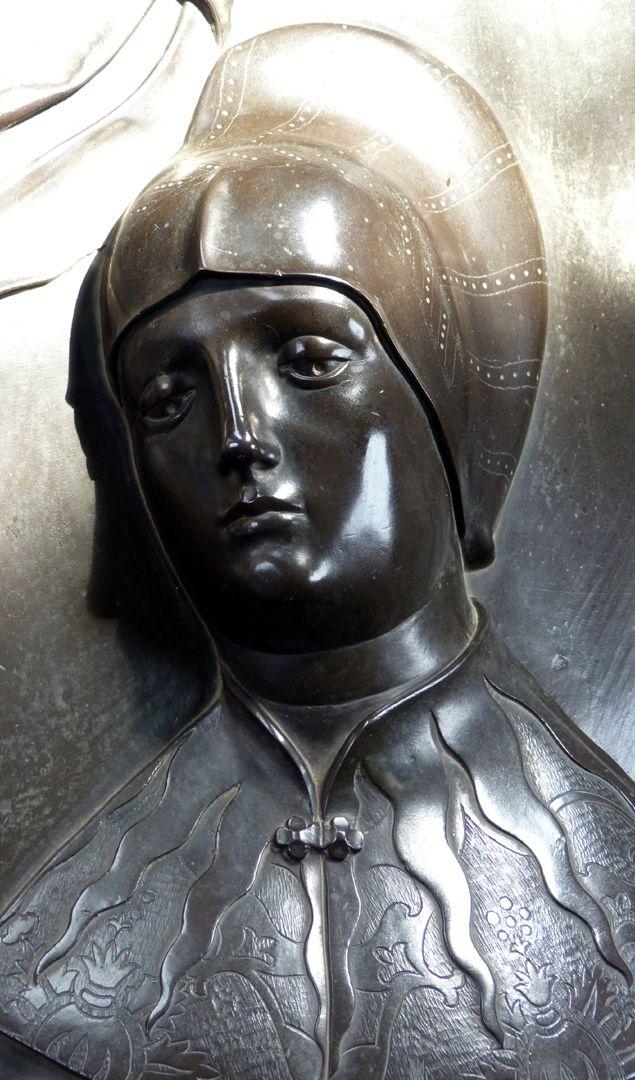 Tumba des Ehepaares Hermann und Elisabeth von Henneberg Portrait der Elisabeth von Brandenburg