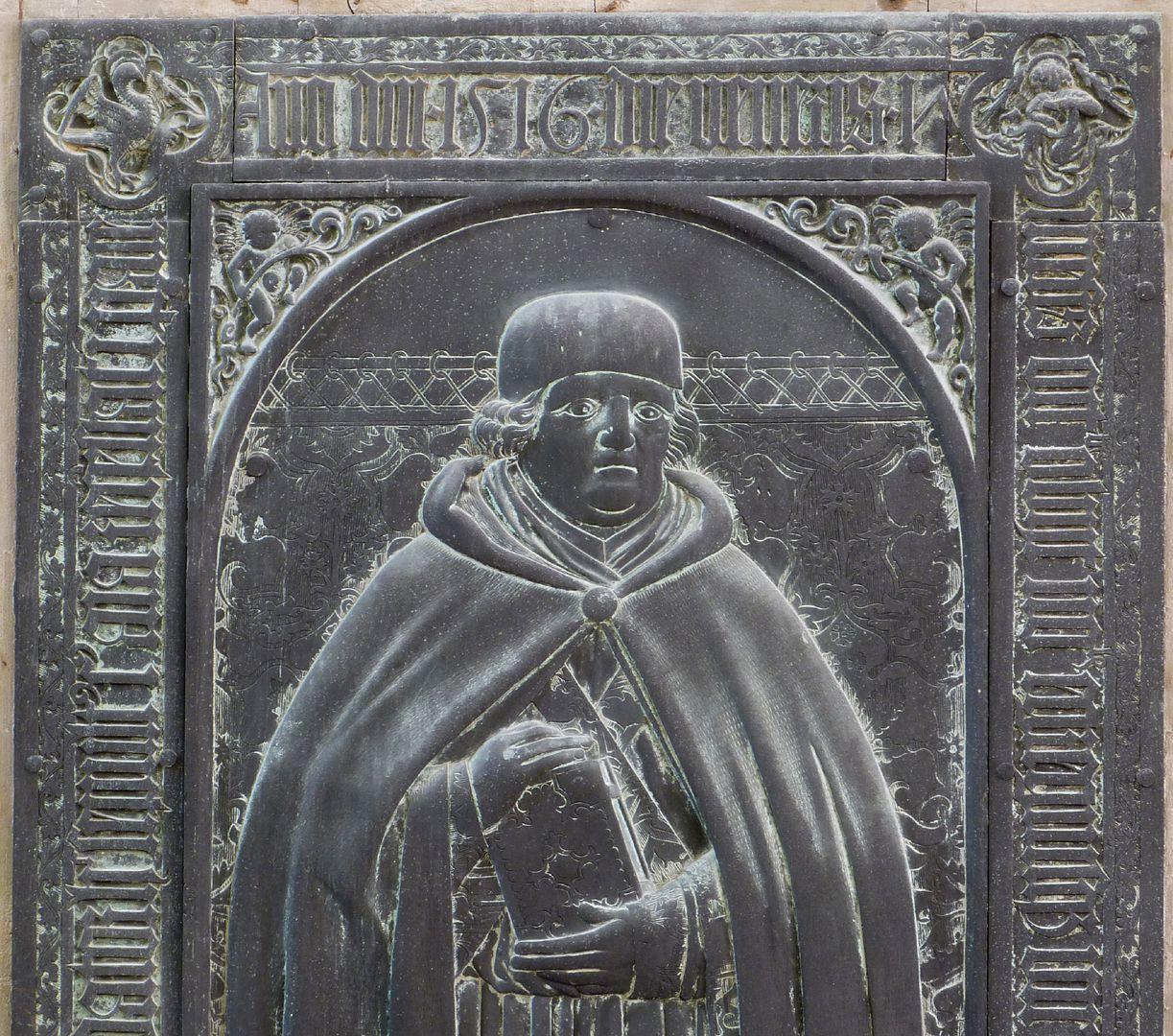 Balthasar von Neuenstadt obere Plattenhälfte