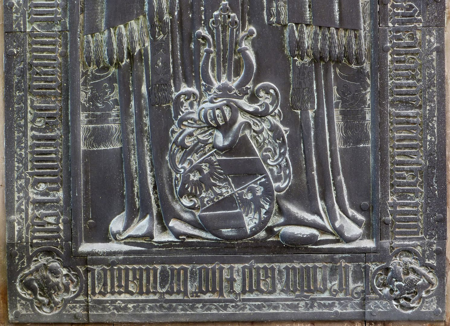 Balthasar von Neuenstadt untere Plattenhälfte