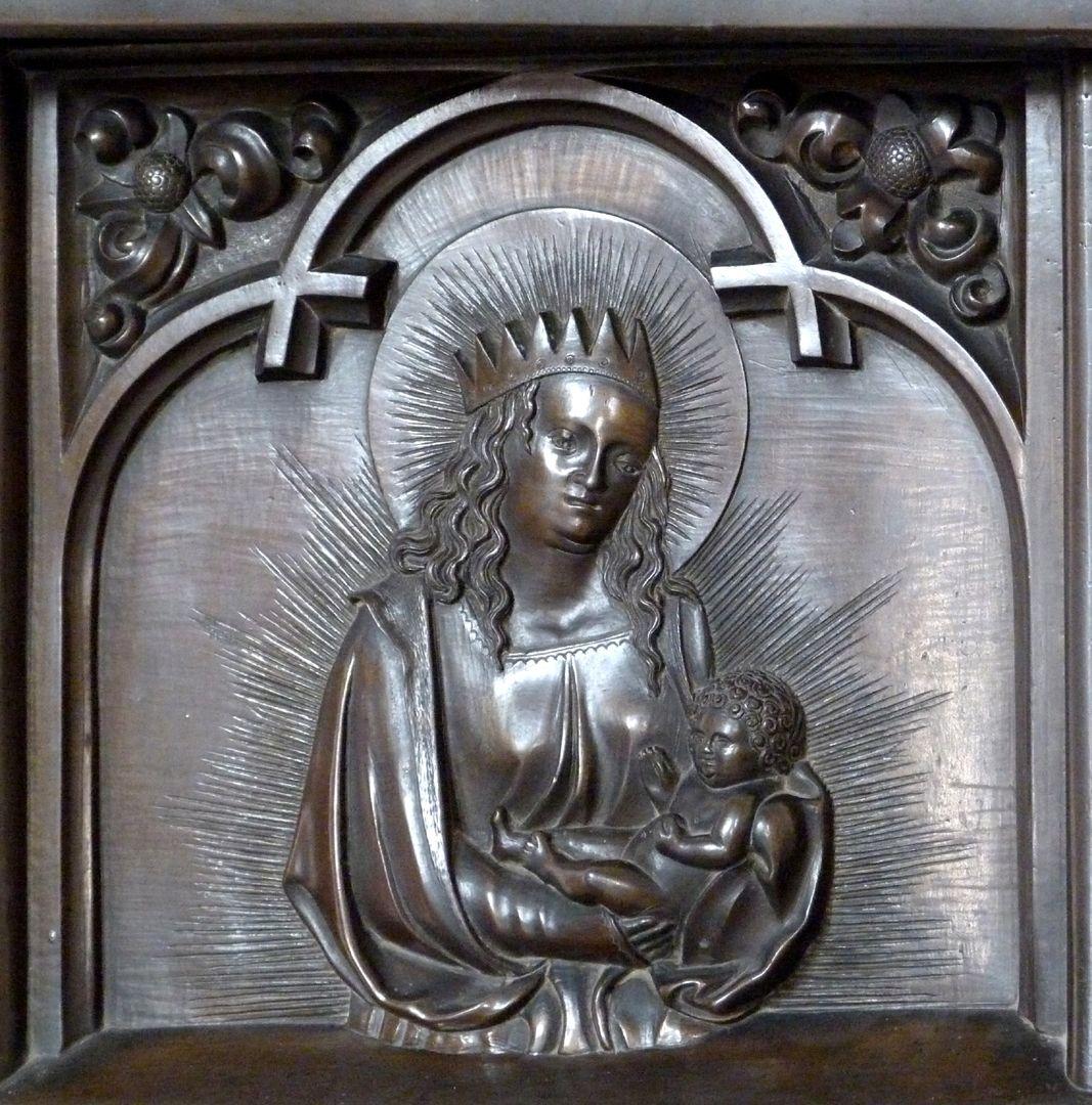 Taufbecken (Ochsenfurt) Taufbecken, Muttergottes mit dem Jesuskind
