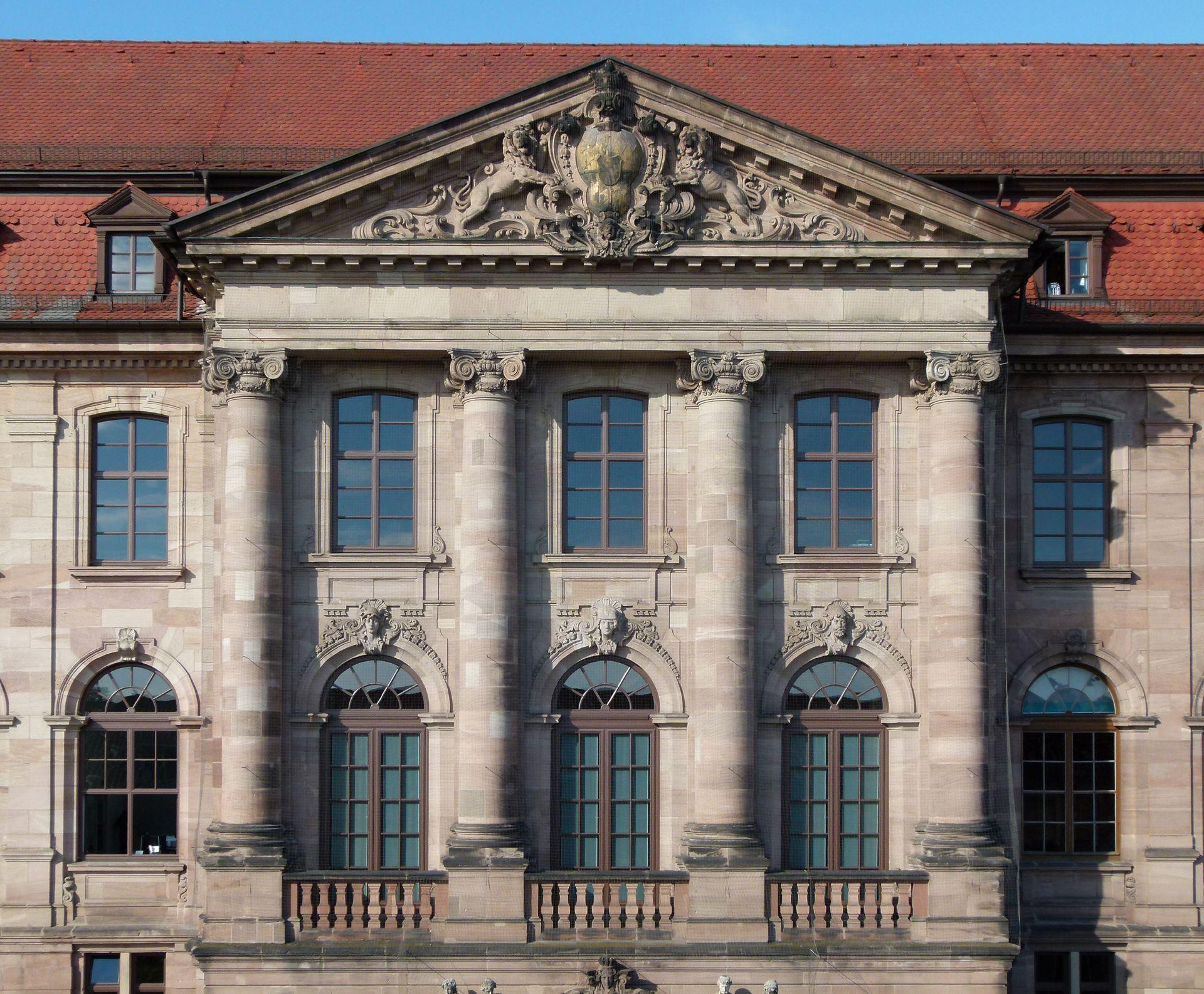 ehem. Bayerische Landesgewerbeanstalt Haupteingangsfassade, NO, Detail
