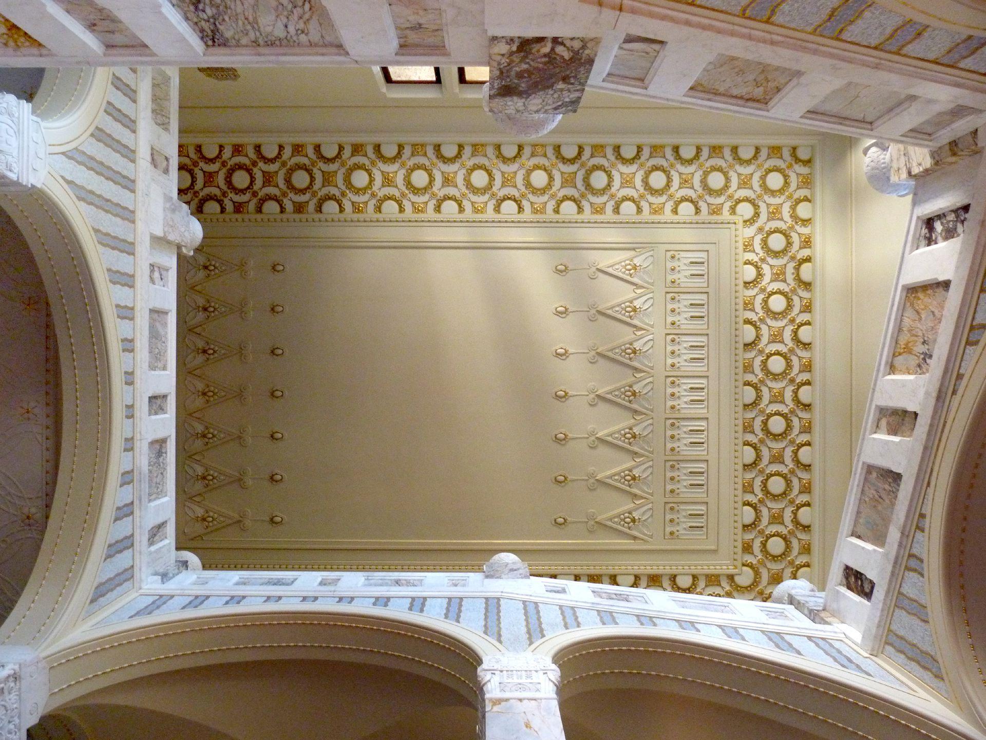 Schloss Faber-Castell Jugendstiltreppenhaus, Blick nach oben