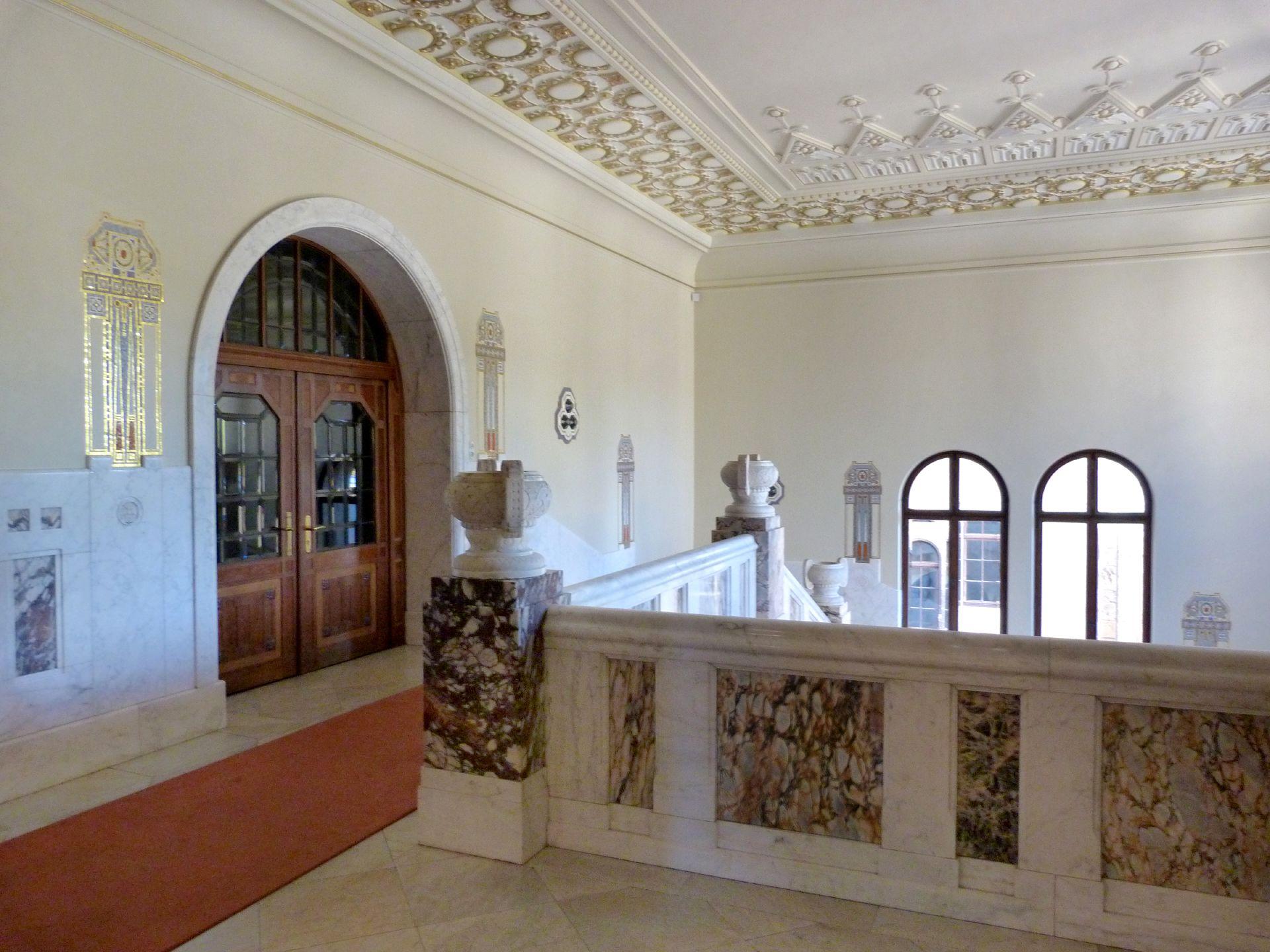 Schloss Faber-Castell Jugendstiltreppenhaus, Obergeschoss