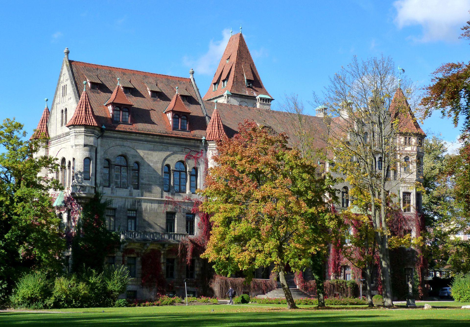 Schloss Faber-Castell Park, Südostansicht