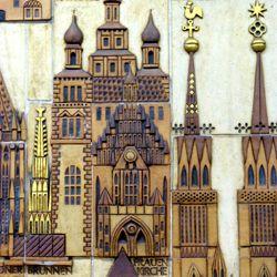 Keramikrelief der Nürnberger Altstadt