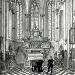 Das Innere der Sebaldskirche zu Nürnberg, Westchor