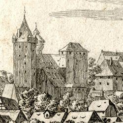 Die Burg zu Nürnberg, vom Judenbühl aus angesehen