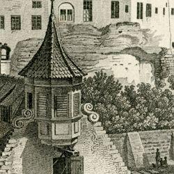 Blick vom Tiergärtnertorturm zur Burg