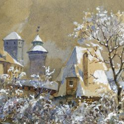 Winterliche Burg