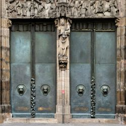 St. Lorenz, Westportal, Bronzetüren