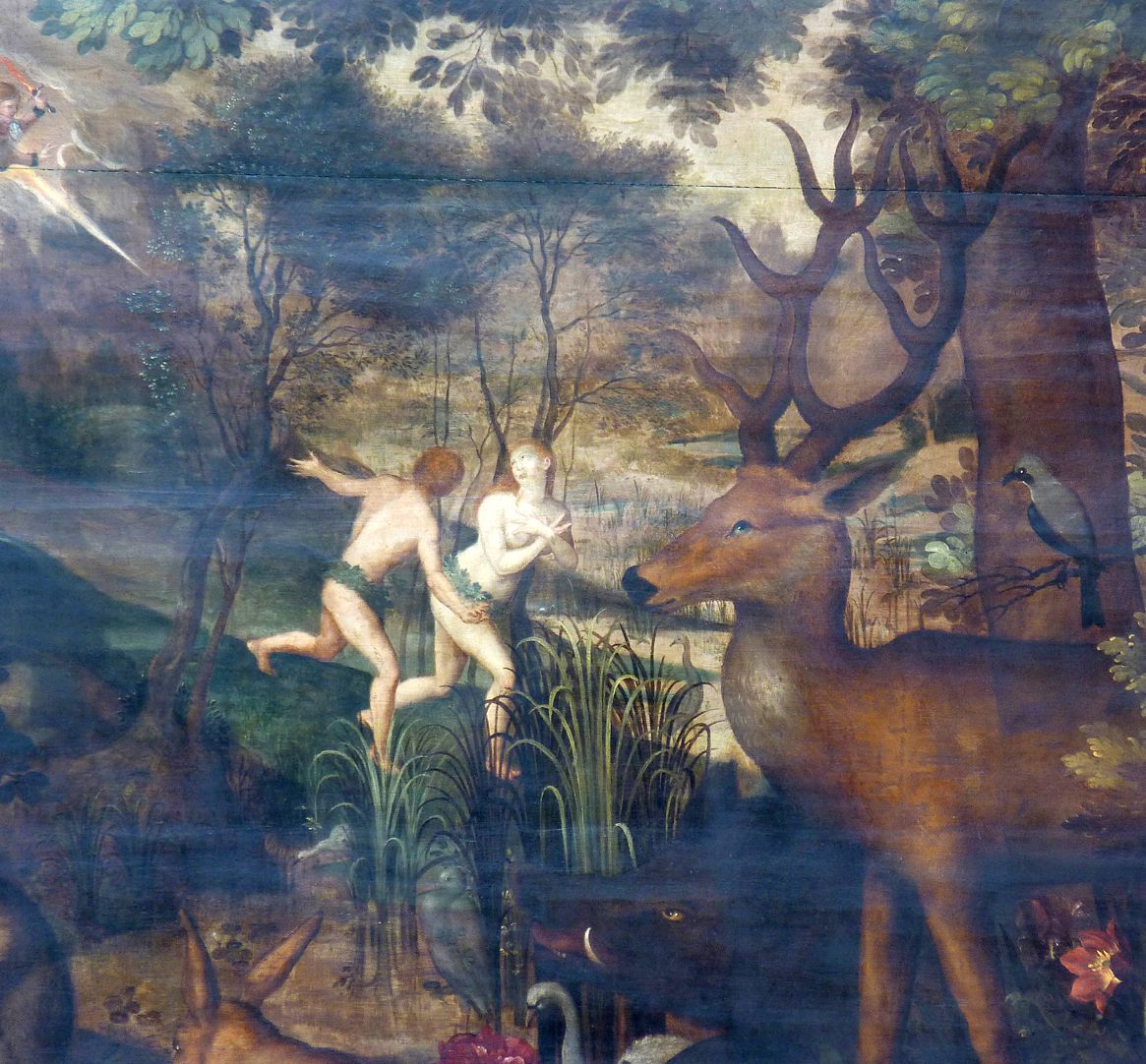 Gedächtnisbild der Familie Behaim Vertreibung aus dem Paradies, Detail