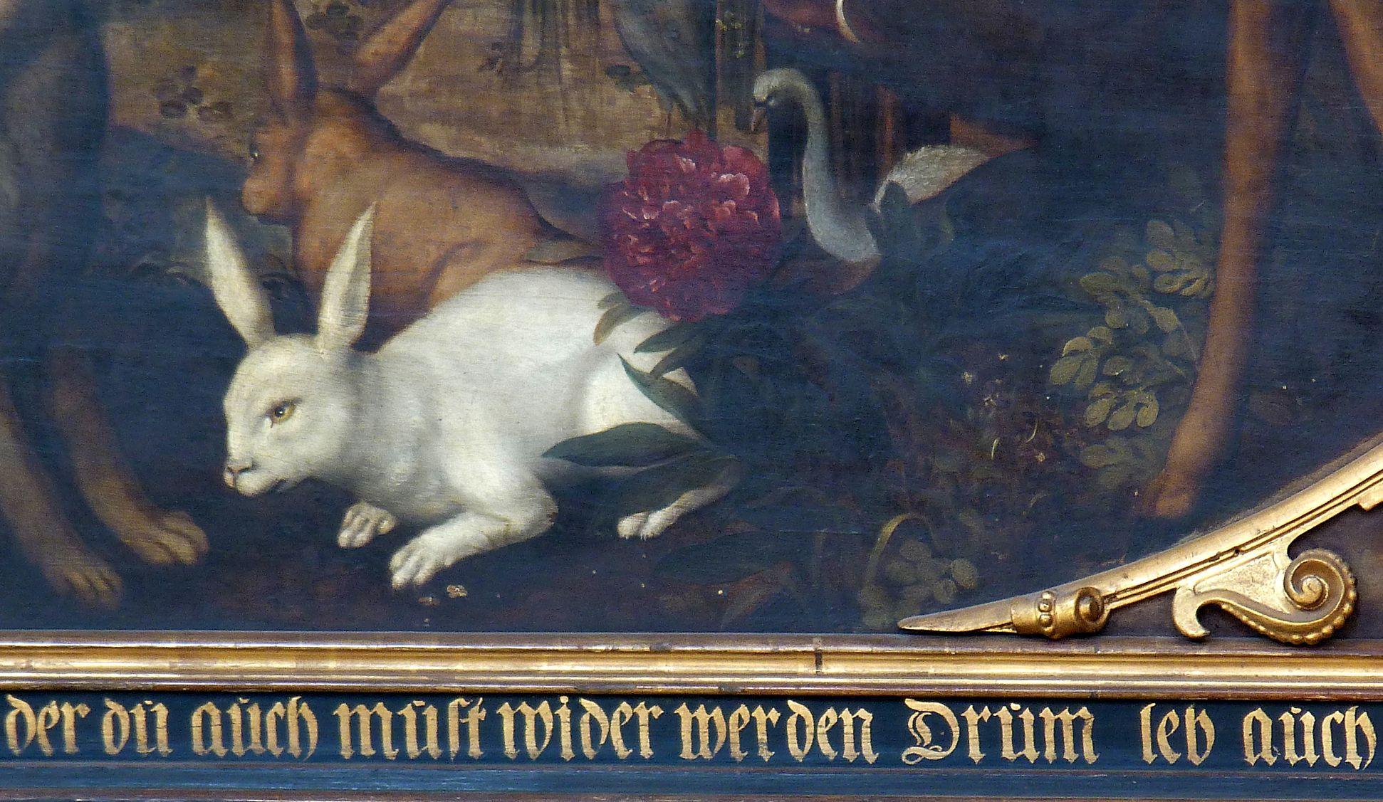 Gedächtnisbild der Familie Behaim Paradiestiere, Hasen