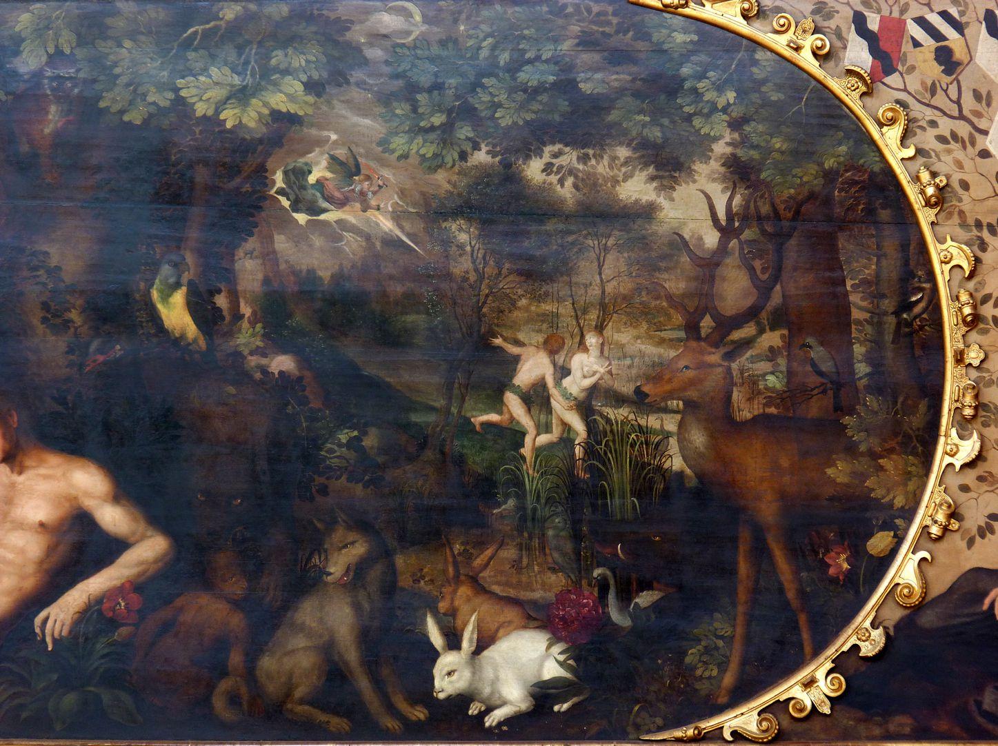 Gedächtnisbild der Familie Behaim Paradiestiere und Vertreibung