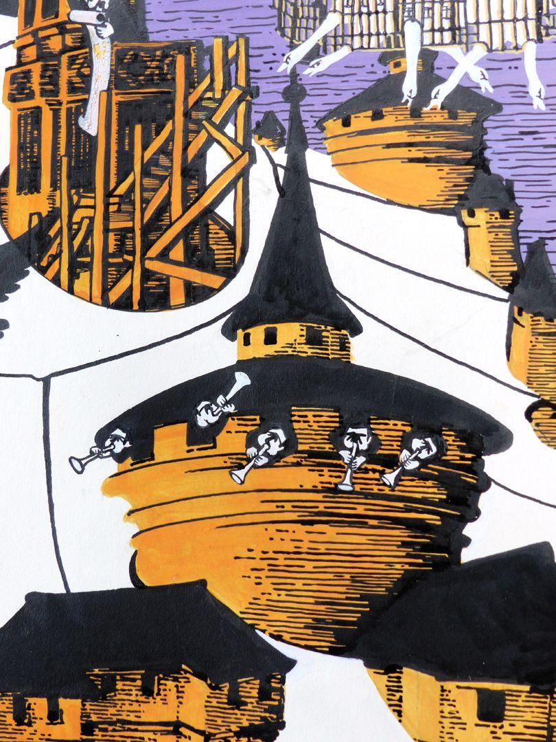 Nürnberger Kulturzirkus Detail mit Türmen und Musikanten