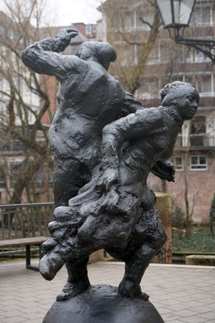 Tanzendes Bauernpaar Ansicht von Nordwest