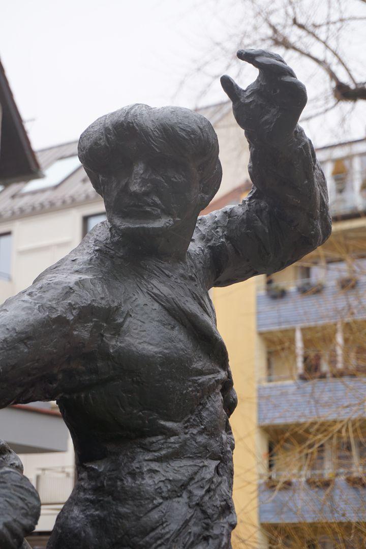 Tanzendes Bauernpaar Mann, Detail