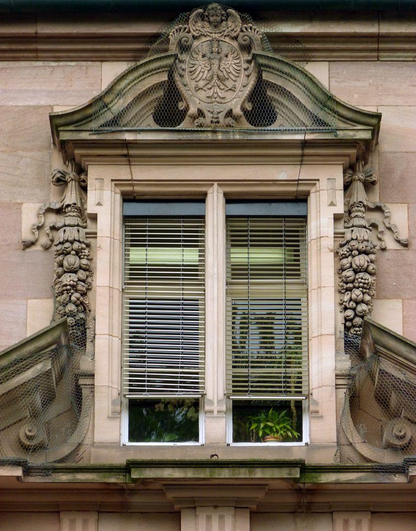 Hauptgebäude des Klinikum Nord Fassade, Mittelachsenfenster