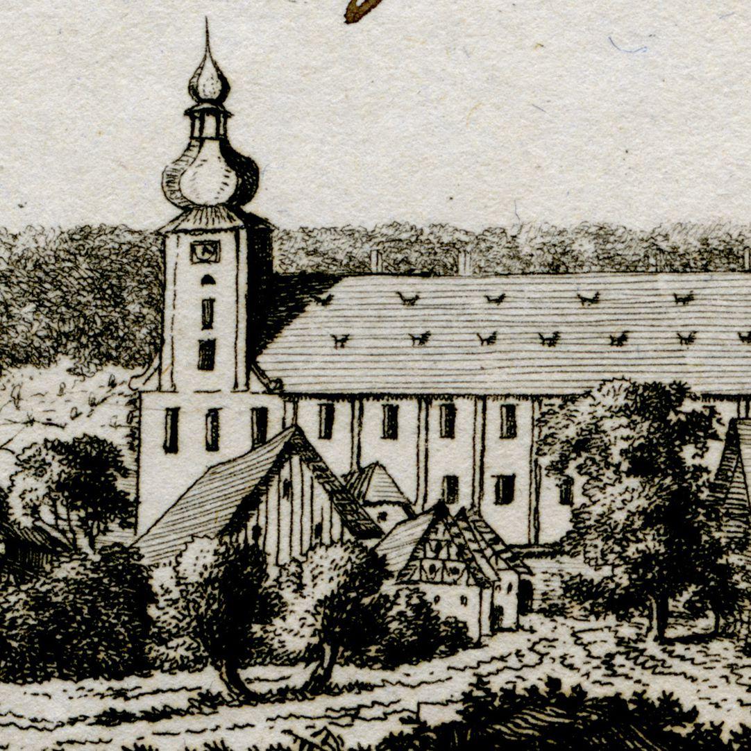 Weisennohe bey Graefenberg (Weißenohe) Detailansicht mit Klosterkirche