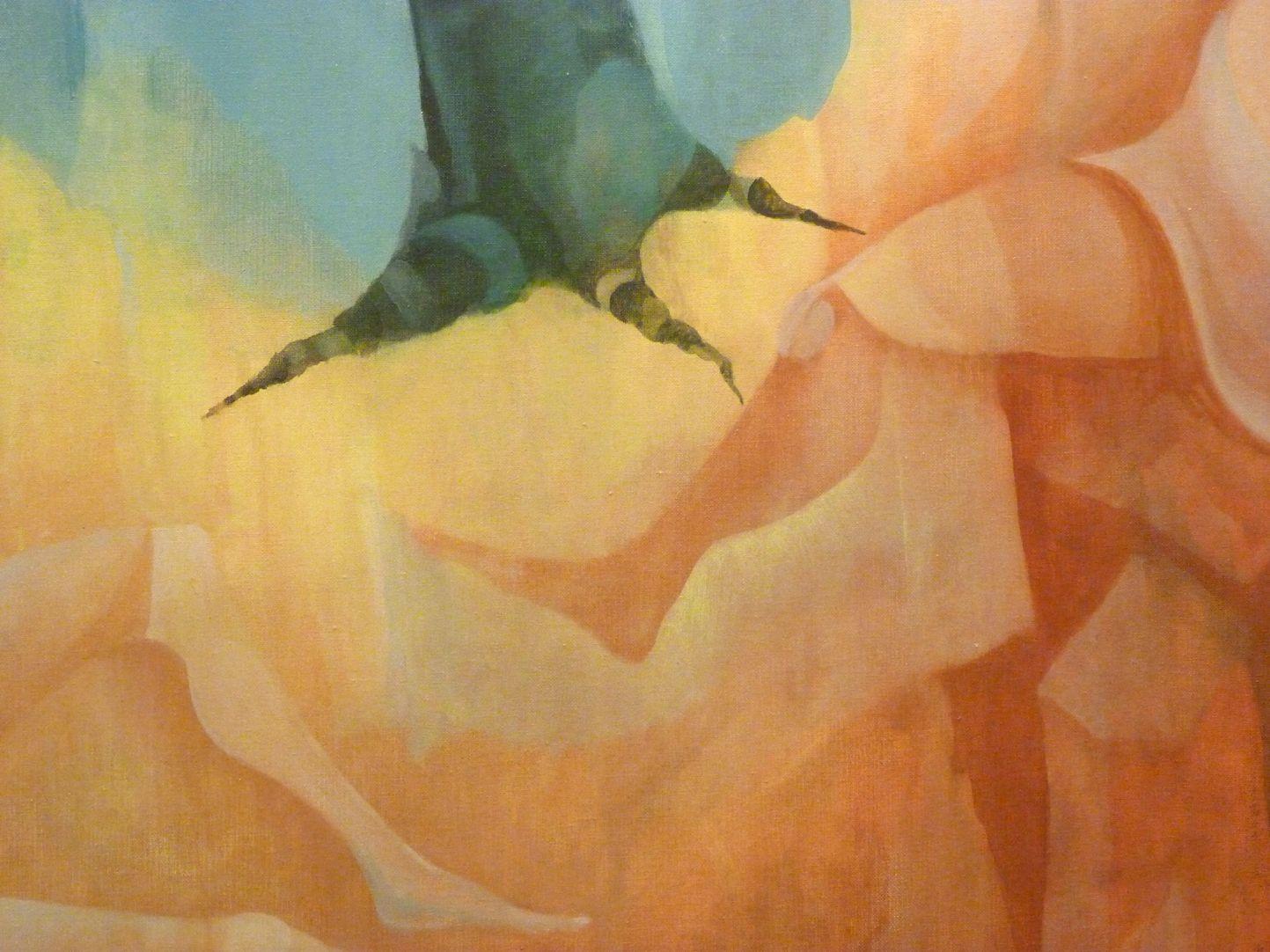 Die Vier Jahreszeiten Detail mit Baumwurzel und Beinen