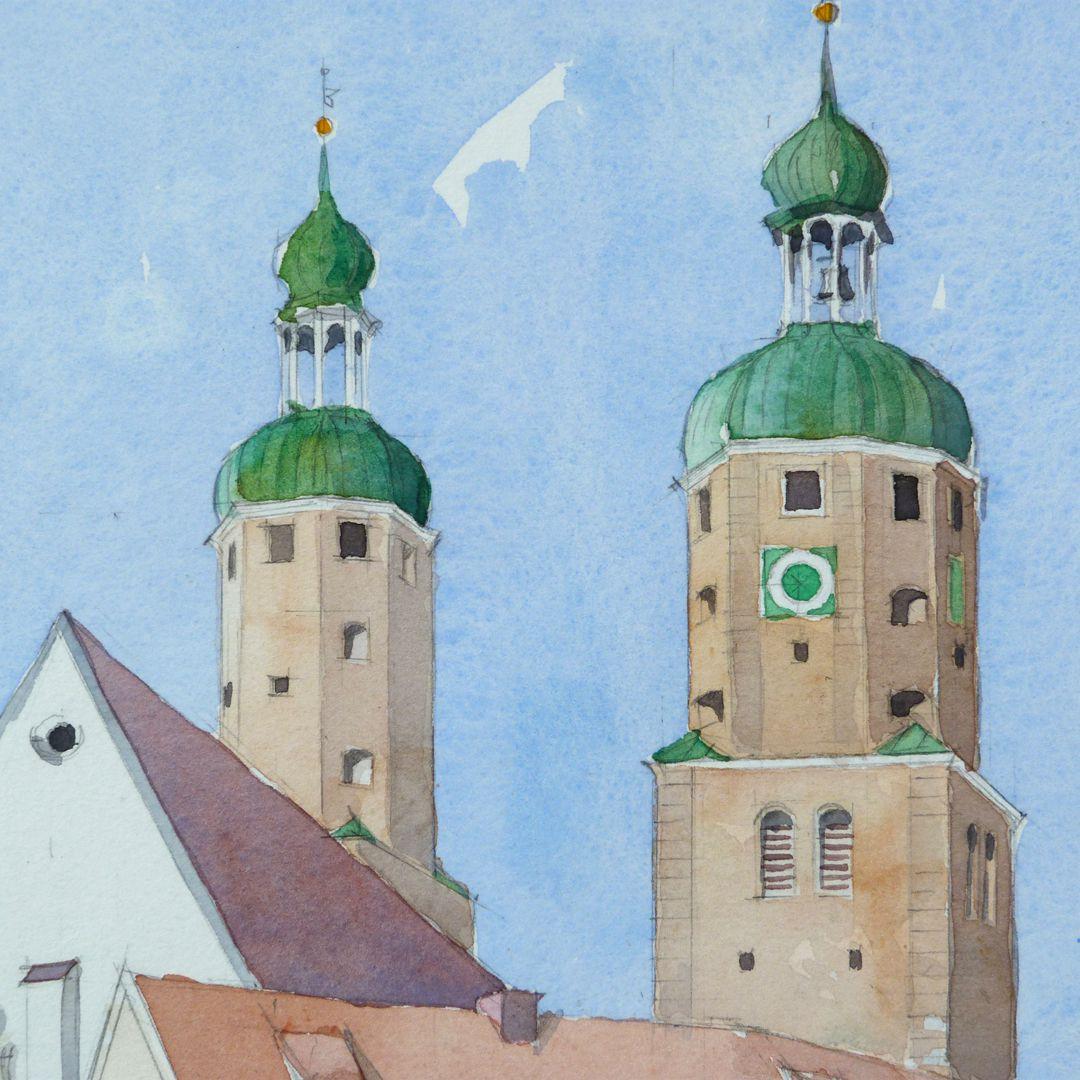 Wemding (Landkreis Donau-Ries) Türme der kath. Stadtpfarrkirche St. Emmeram