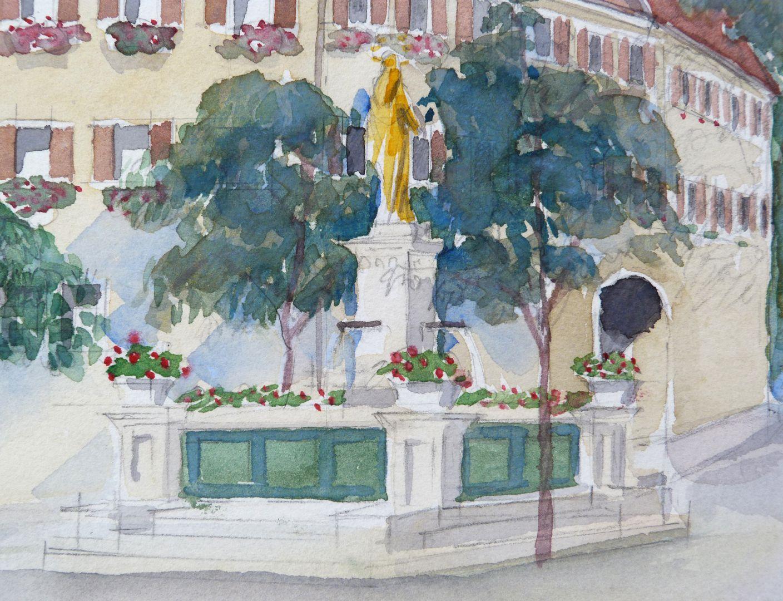 Wemding (Landkreis Donau-Ries) Detail mit Marienbrunnen