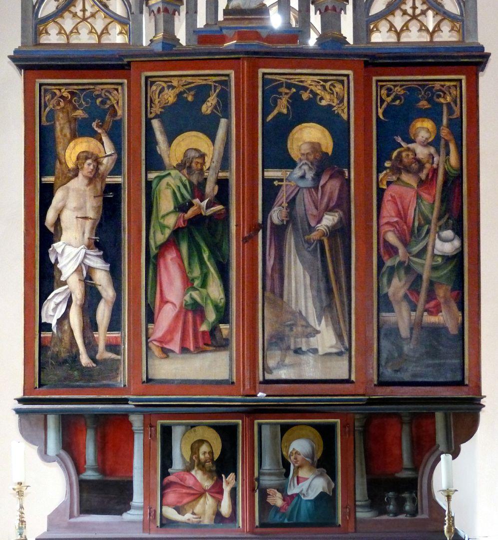 Wendelsteiner Dreikönigsaltar geschlossener Hauptschrein