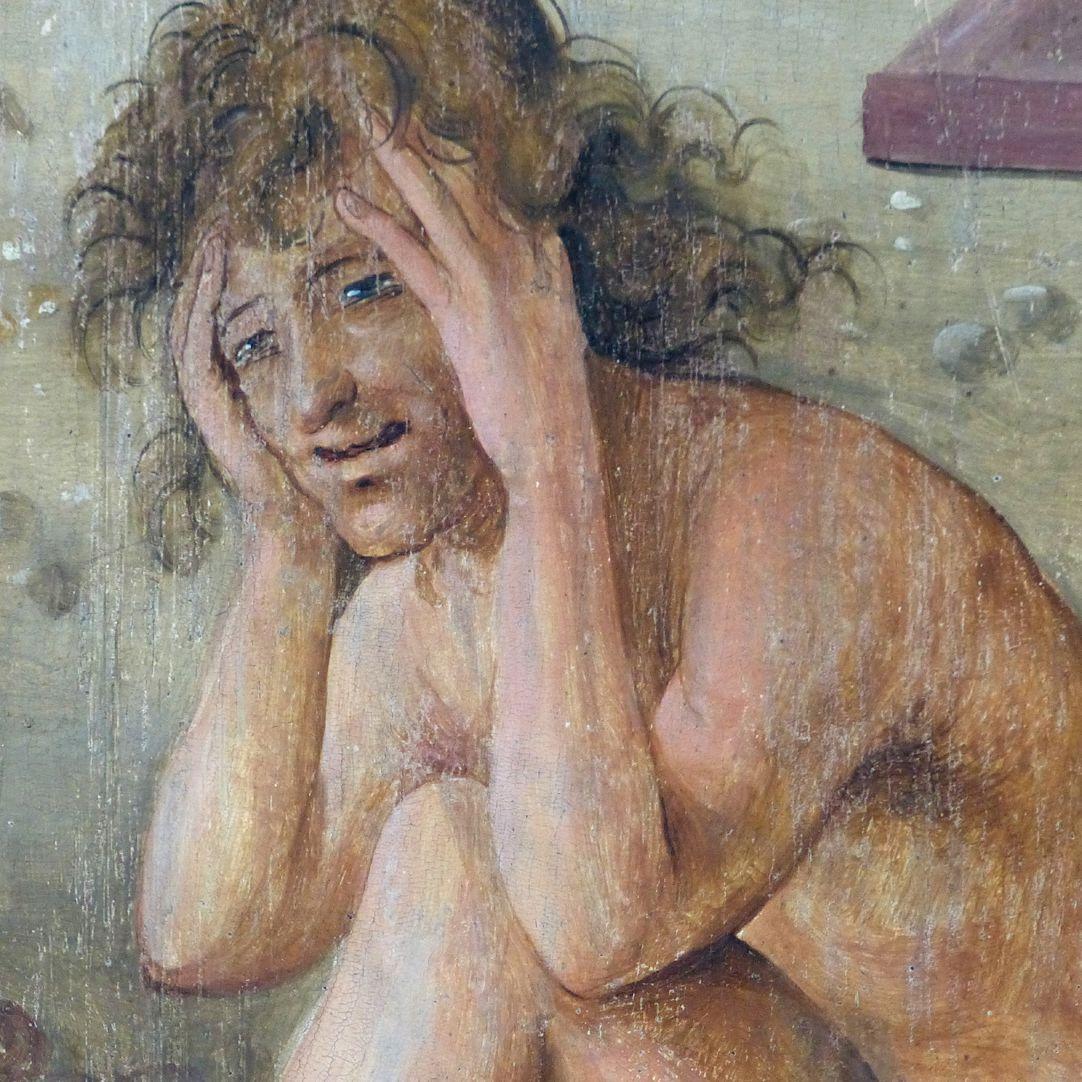 Wendelsteiner Dreikönigsaltar Rückseite, Mitteltafel, Auferstehung der Toten, Detail