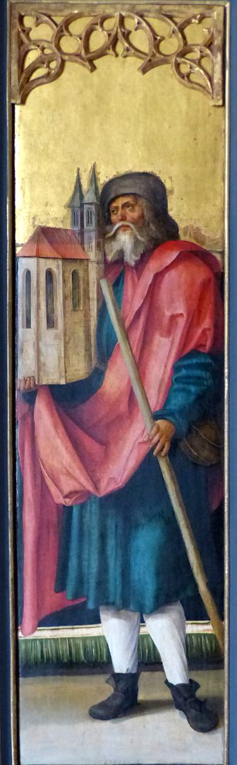 Wendelsteiner Dreikönigsaltar St. Sebald auf dem gemalten r. Flügel, bei geöffnetem Hauptschrein