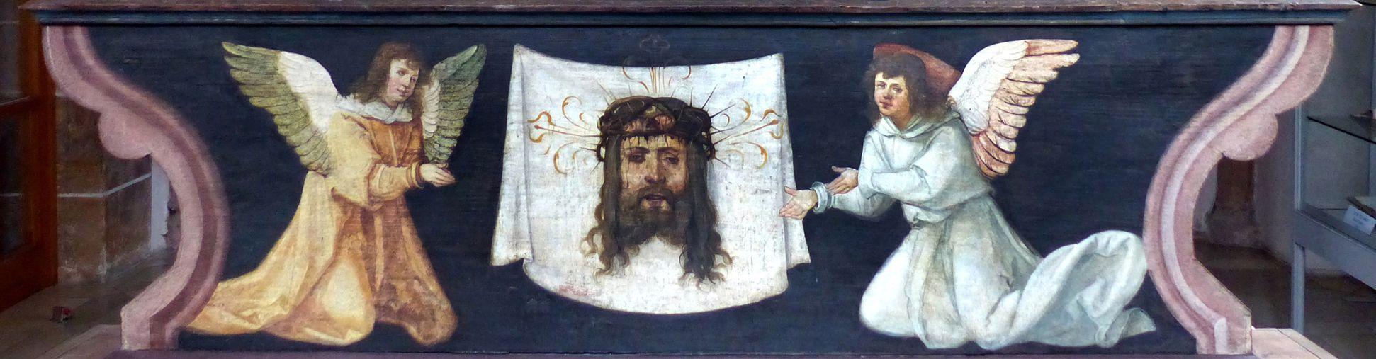 Wendelsteiner Dreikönigsaltar Rückseite, Predella, Schweißtuch der Veronika