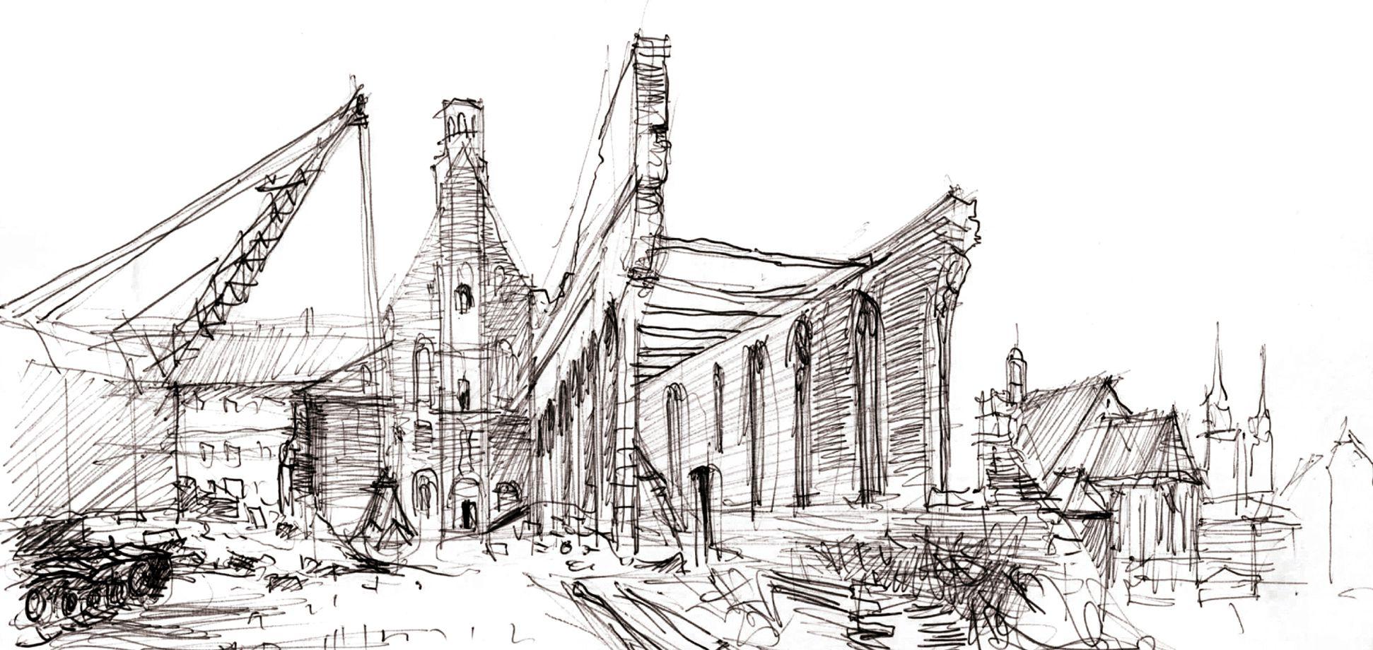Wiederaufbau der ehemaligen Heilig-Geist-Spital Kirche Detail
