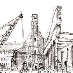 Wiederaufbau der ehemaligen Heilig-Geist-Spital Kirche