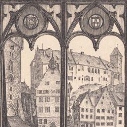 Aussicht vom A.Dürershaus gegen die Burg zu Nürnberg