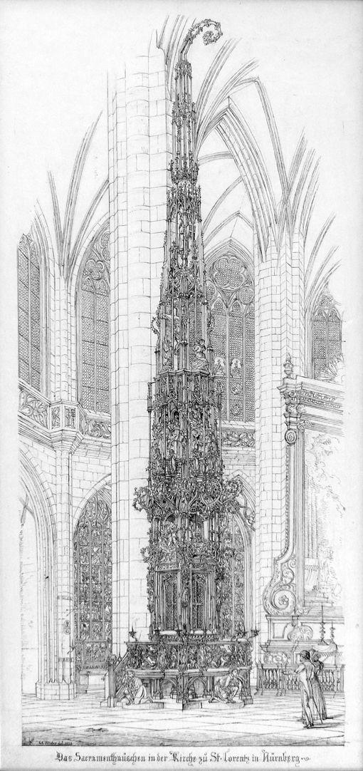 Das Sacramenthäuschen in der Kirche zu St. Lorenz Gesamtansicht