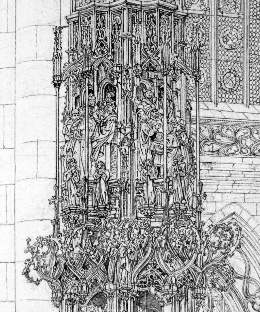 Das Sacramenthäuschen in der Kirche zu St. Lorenz Detail